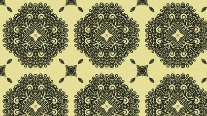 Brown Vintage Decorative Floral Ornament Background Pattern Design Template