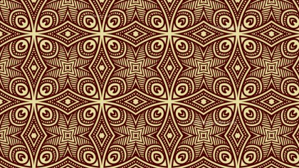Brown Vintage Ornament Background Pattern Image