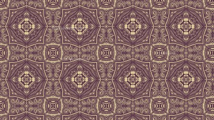 Brown Vintage Decorative Floral Seamless Pattern Wallpaper Design