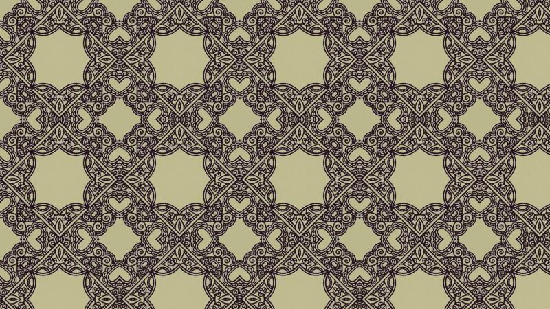 Brown Vintage Ornamental Seamless Pattern Wallpaper Template