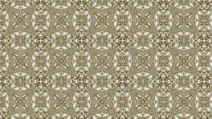 Brown Vintage Seamless Ornamental Pattern Wallpaper