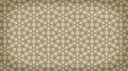 Brown Vintage Ornamental Pattern Wallpaper