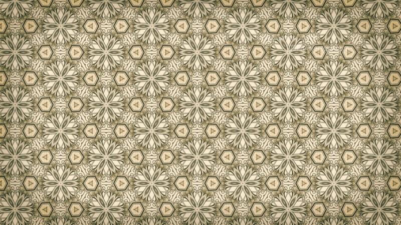 Brown Vintage Ornamental Pattern Wallpaper