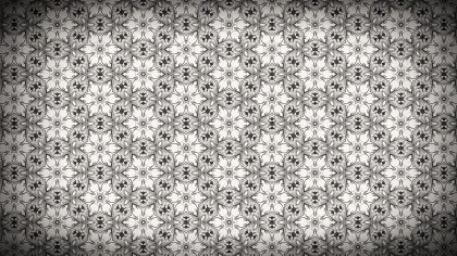 Brown Vintage Flower Wallpaper Pattern