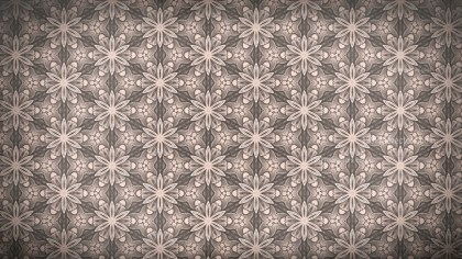 Brown Vintage Ornamental Seamless Pattern Background Design