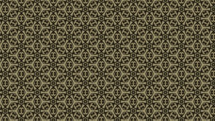 Brown Vintage Seamless Floral Background Pattern