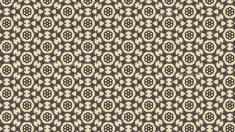 Brown Vintage Decorative Floral Pattern Background