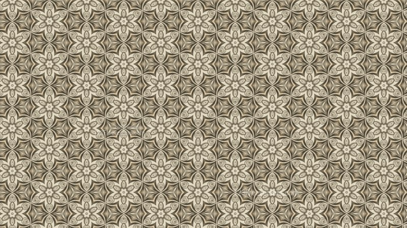 Vintage Decorative Floral Seamless Background Pattern Graphic