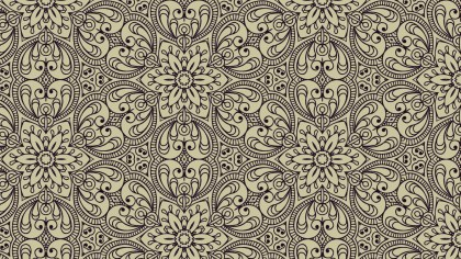 Brown Vintage Ornamental Seamless Pattern Wallpaper Template