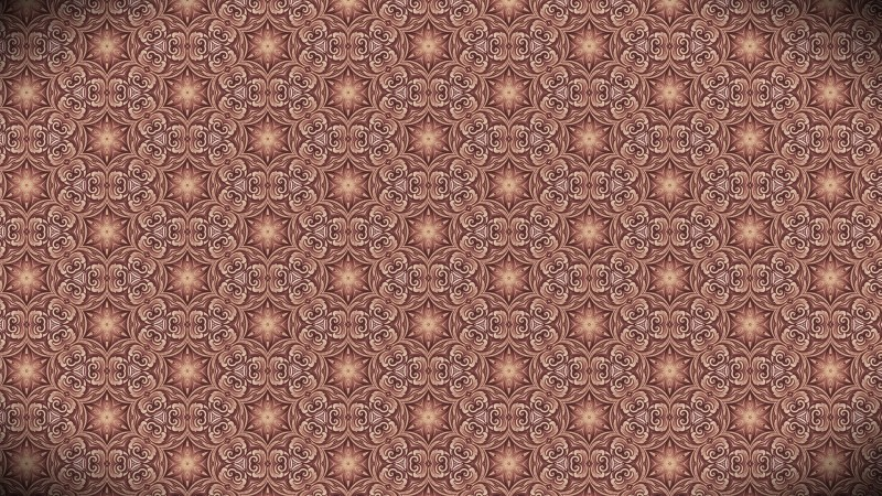 Brown Vintage Floral Wallpaper Background