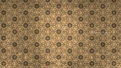 Brown Vintage Floral Ornament Background Pattern Template