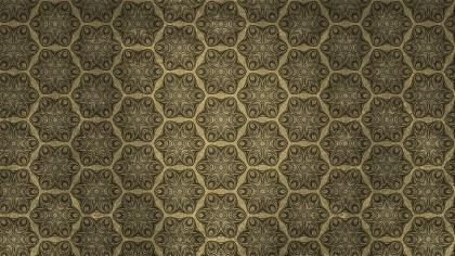 Brown Vintage Seamless Floral Background Pattern