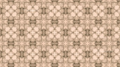 Brown Vintage Ornament Wallpaper Pattern Design