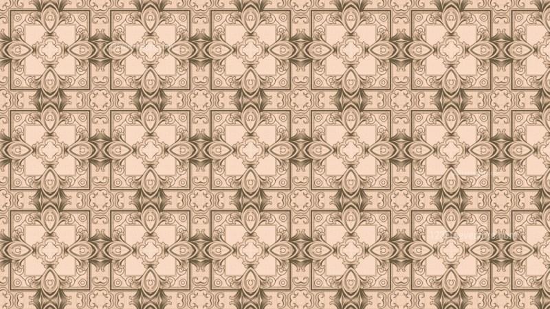 Brown Vintage Ornament Wallpaper Pattern Design
