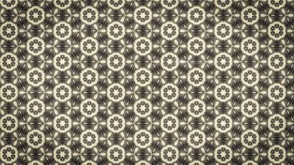 Brown Vintage Decorative Floral Pattern Background