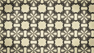 Brown Vintage Flower Background Pattern
