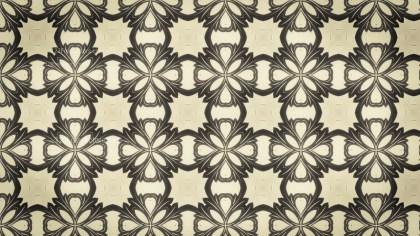 Brown Vintage Flower Background Pattern