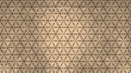 Brown Vintage Floral Ornament Wallpaper Pattern Graphic