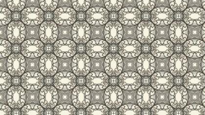Brown Vintage Flower Wallpaper Pattern