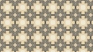 Brown Vintage Floral Ornament Background Pattern Template