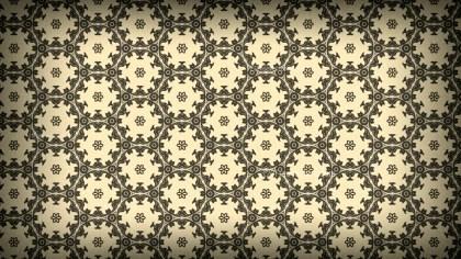 Brown Vintage Seamless Floral Wallpaper Pattern