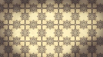 Brown Vintage Floral Ornament Wallpaper Pattern Graphic