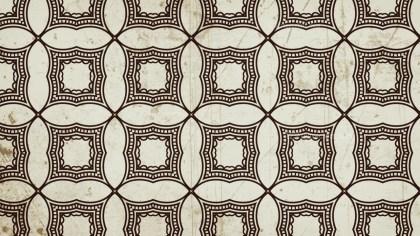 Brown Vintage Decorative Floral Pattern Wallpaper