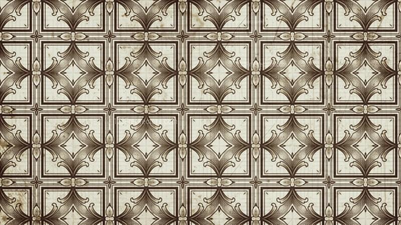 Vintage Floral Ornament Pattern Wallpaper Image