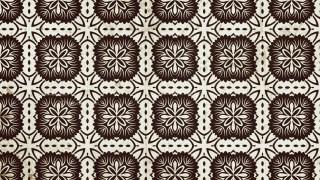 Brown Vintage Floral Pattern Wallpaper