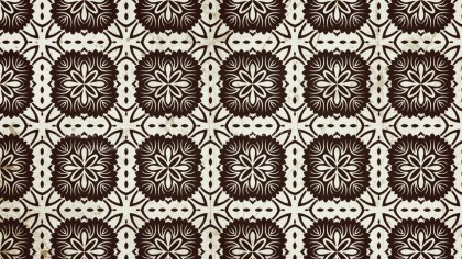 Brown Vintage Floral Pattern Wallpaper