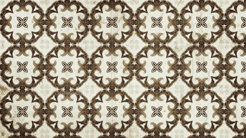Brown Vintage Seamless Ornament Wallpaper Pattern Design Template