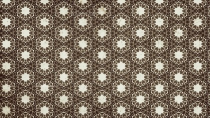 Brown Seamless Floral Vintage Pattern Background Image