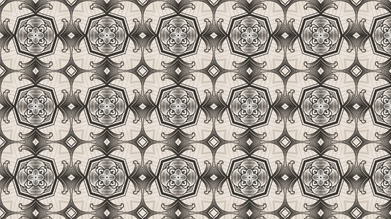 Brown Decorative Seamless Pattern Wallpaper