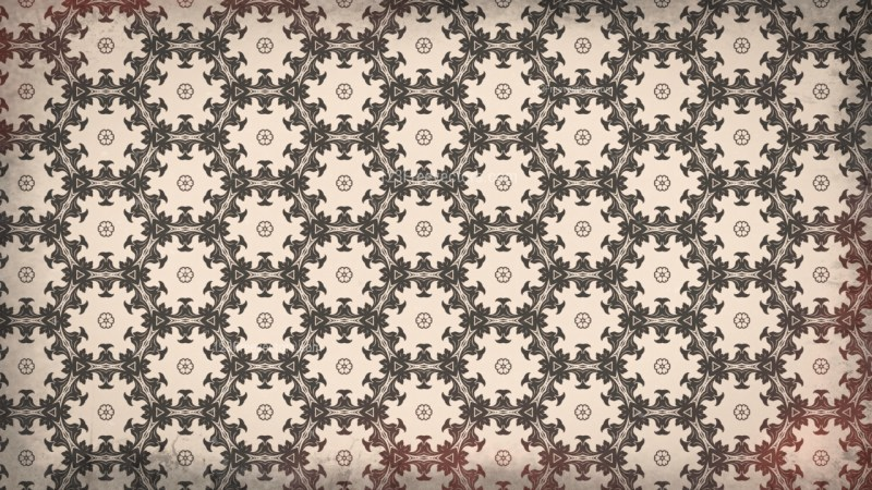 Brown Geometric Ornament Seamless Wallpaper Pattern