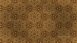 Brown and Gold Vintage Seamless Ornamental Pattern Background