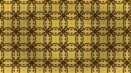 Brown and Gold Vintage Seamless Floral Background Pattern