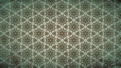 Brown and Green Vintage Floral Seamless Pattern Wallpaper Design Template