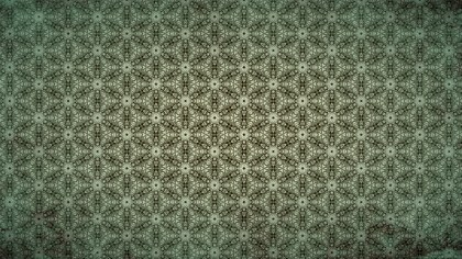 Brown and Green Vintage Ornamental Seamless Pattern Wallpaper Template