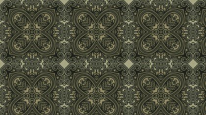 Brown and Green Vintage Flower Wallpaper Pattern