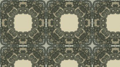 Brown and Green Vintage Seamless Floral Wallpaper Pattern