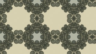 Brown and Green Vintage Seamless Ornament Wallpaper Pattern Design Template