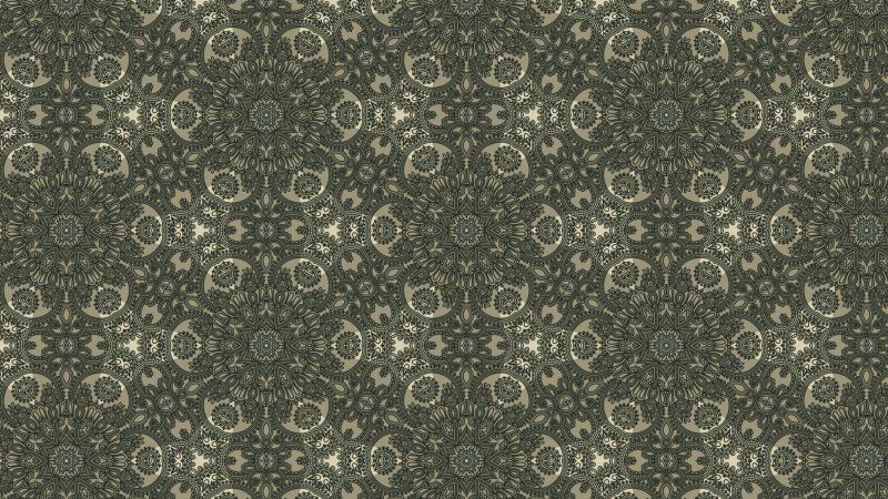 Brown and Green Vintage Floral Wallpaper Background