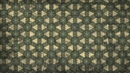 Brown and Green Vintage Ornamental Pattern Background