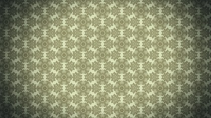 Brown and Green Vintage Seamless Ornamental Pattern Background