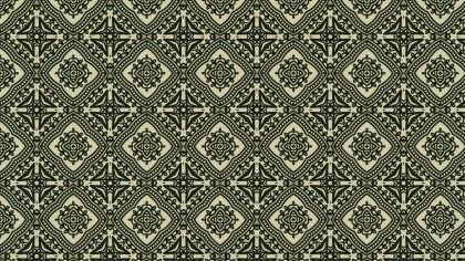 Brown and Green Vintage Decorative Ornament Background Pattern