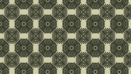 Brown and Green Vintage Flower Background Pattern