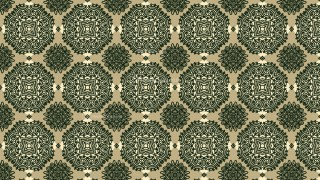 Brown and Green Vintage Ornament Background Pattern Image