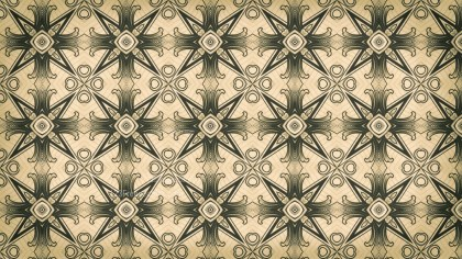 Brown and Green Vintage Decorative Floral Ornament Wallpaper Pattern Image