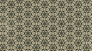 Brown and Green Vintage Decorative Ornament Wallpaper Pattern