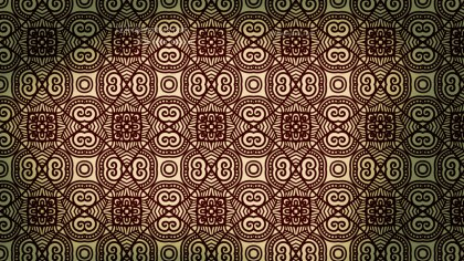 Brown and Green Vintage Decorative Floral Pattern Background